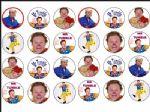 24 x Mr Tumble Rice Wafer Paper Cake Bun Toppers